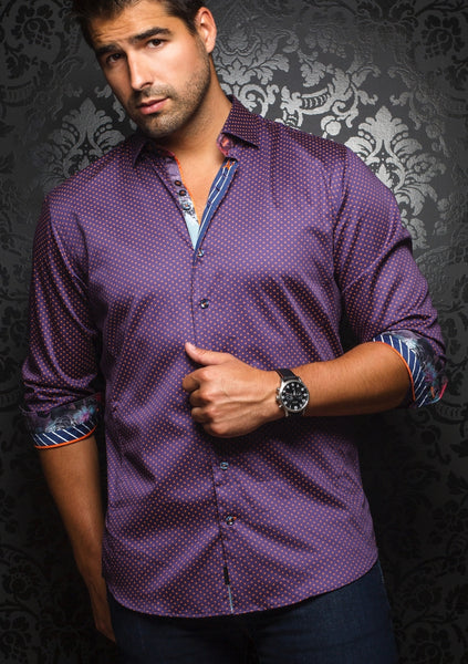 Au Noir shirts SEGOVIA purple