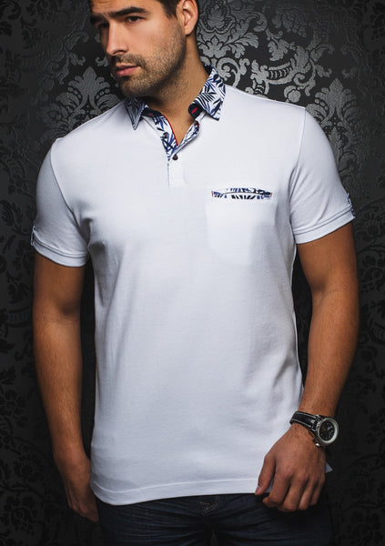 white polo shirt by Au Noir - St Trompez white