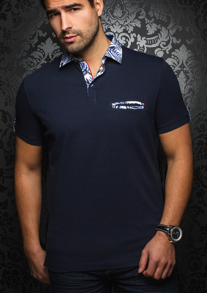 navy polo shirt by Au Noir - St Tropez navy