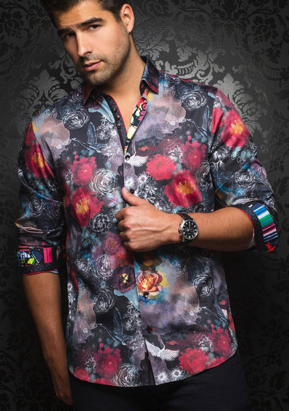 Au Noir shirts VINCENT black multi