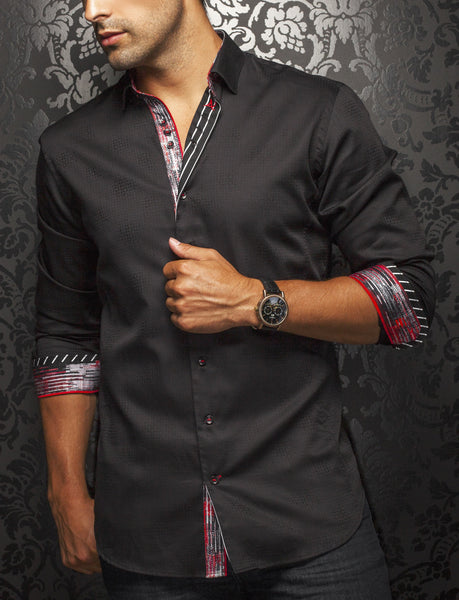 Black dress shirt for men from Au Noir shirts