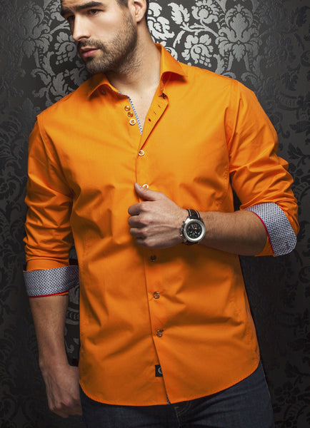 Au Noir shirts Hugo Orange
