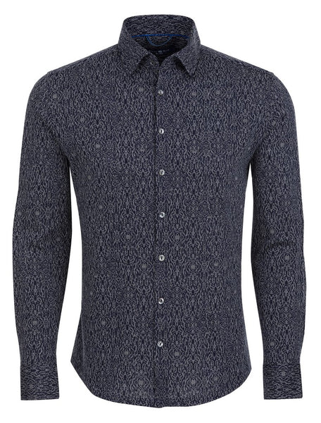 stone rose dark navy shirt