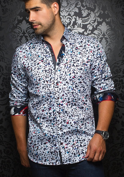 Au Noir shirts Gavin white multi