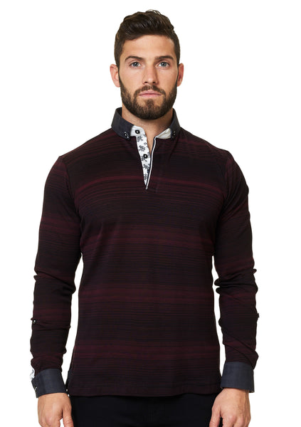 Long Sleeve Polo: Prince