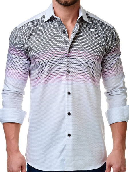 Maceoo mens dress shirts Somelos Pink