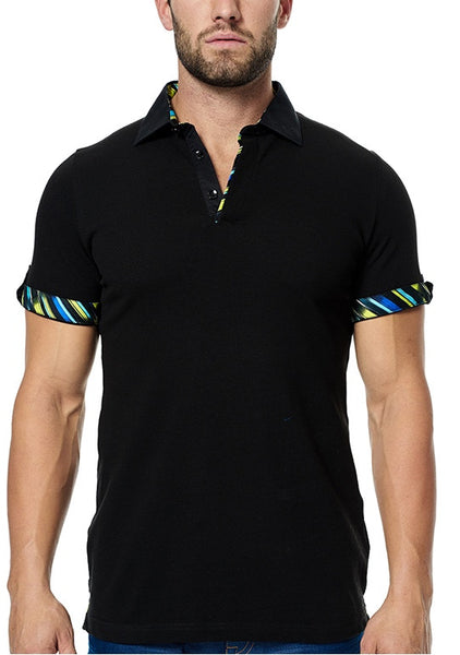 Maceoo polo shirts Polo S Black SC folded