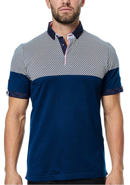 Maceoo polo shirts Polo S Cross Navy White BC