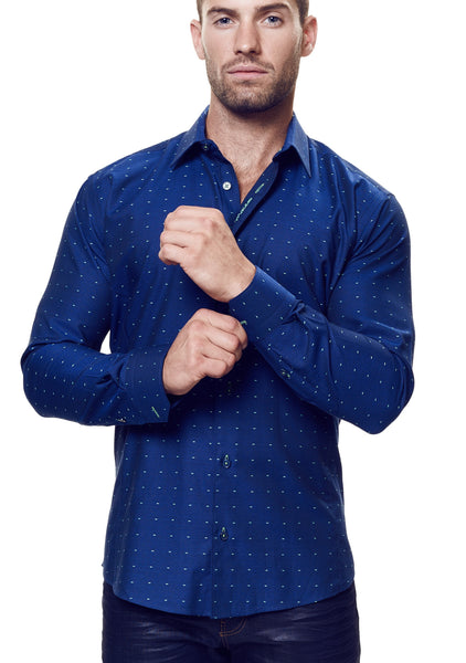 Maceoo shirts kali navy fluo