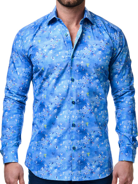 Maceoo shirts full Luxor Ciel Fluo Blue