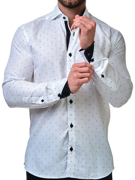 Maceoo shirts Wall Street Black Square White