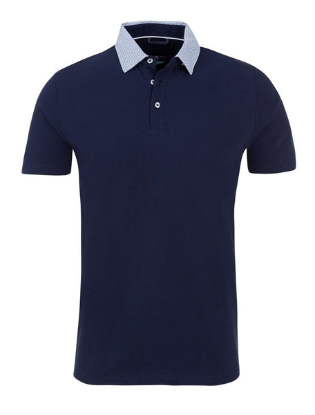 Navy polo shirt from the Stone Rose spring 2019 collection
