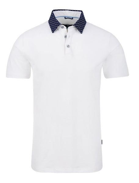 White polo shirt from Stone Rose spring 2019 collection