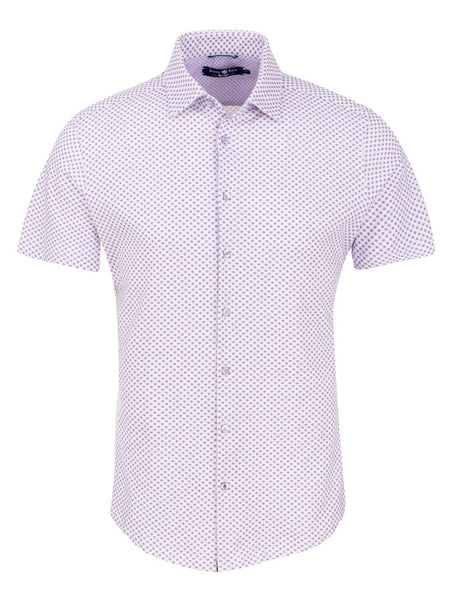 a purple short sleeve shirt designed by Stone Rose shirts
