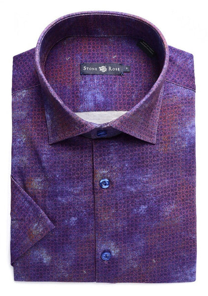 berry purple Short sleeve shirt designed by Stone Rose shirts