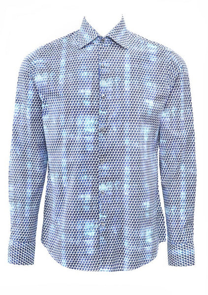 Stone Rose shirts CPH 7204 BLUE long sleeve shirt for men front