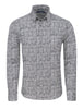 stone rose funky and modern grey check shirts GRU9207-020-GREY