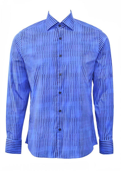 Stone Rose blue stripe shirts for Men IND 7203 ELECTRIC BLUE