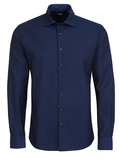 Navy blue long sleeve shirt for men from the Fall 2018 Stone Rose shirts collection