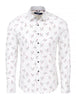 white long sleeve luxury shirt with chicken print
