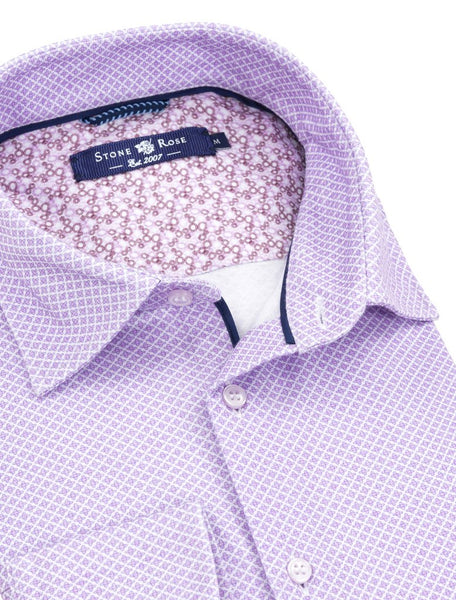 Spring 2019 collection blue long sleeve purple shirts Stone Rose shirts SJC9124-500-PURPLE