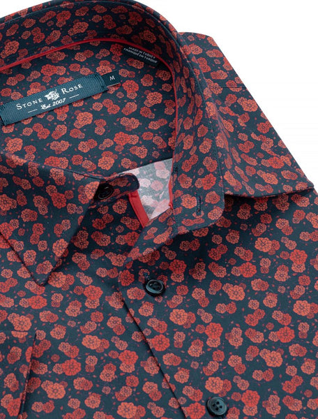 orange floral stone rose shirts