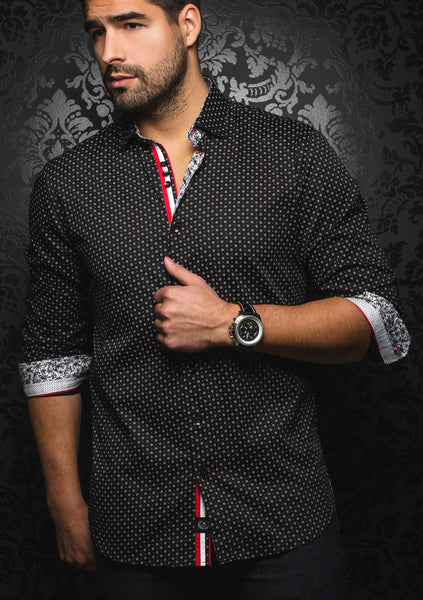 Au_Noir_black_long_sleeve_sleeve_shirt _for_men