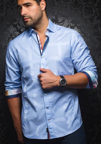 au noir shirts FABRIANO light blue