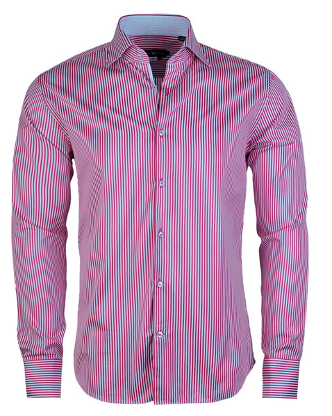 Stone Rose pink and baby blue stripe shirt