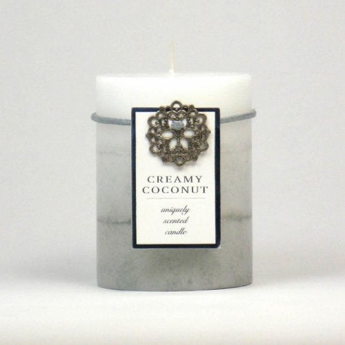 CREAMY COCONUT PILLAR CANDLE 3X4