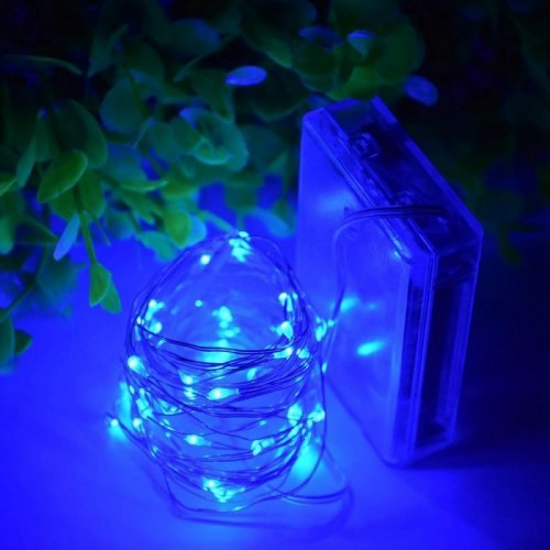 20 Led Copper Fairy Lights Blue