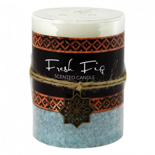FRESH FIG MOROCCAN PILLAR CANDLE 3X4