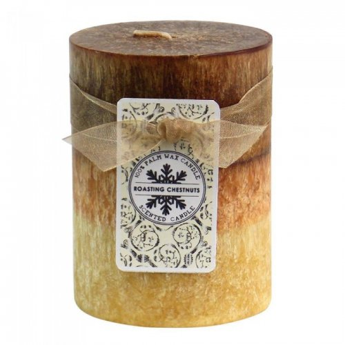 ROASTING CHESTNUTS PILLAR CANDLE 3X4