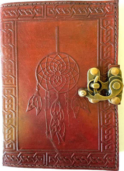 Dreamcatcher Leather w/ Latch Blank Journal