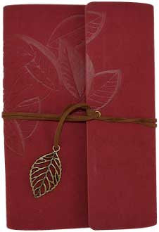 Leaf Blank Journal w/Cord