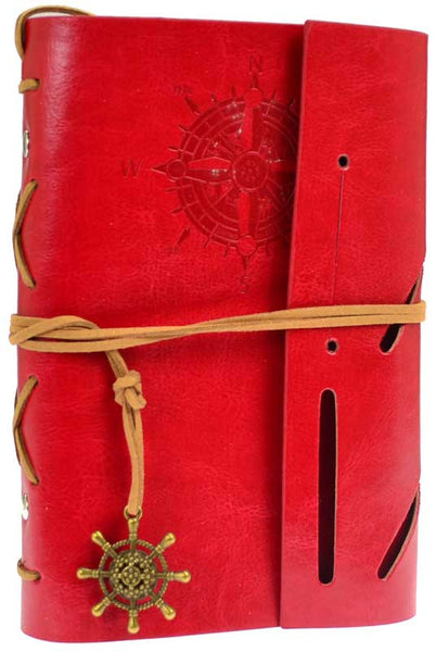 Red Compass Blank Journal