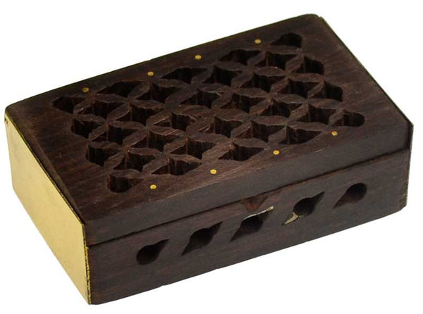 Tiny Rosewood Filigree Box