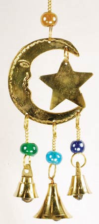 Three Bell Star and Moon Windchime
