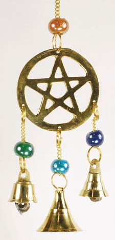 Three Bell Pentagram Windchime