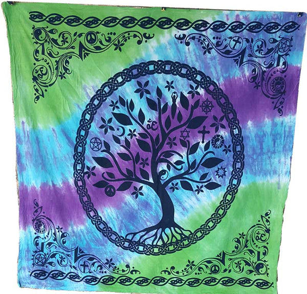 Tree Of Life Tie-Dyed Cloth