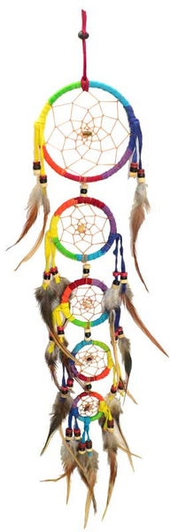 5 Rainbow Rings Dream Catcher