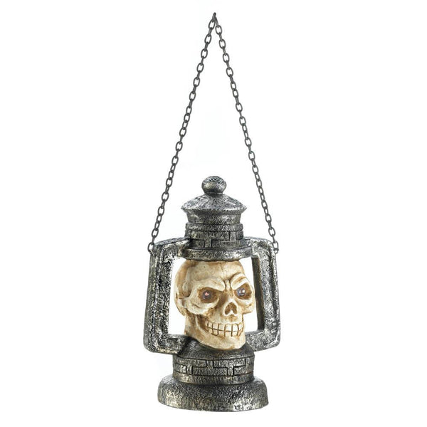 Skull Head Lantern W/LED Light