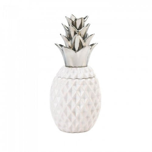 1234 Silver Topped Pineapple Jar