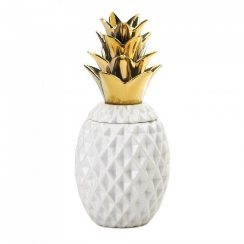 1334 Gold Topped Pineapple Jar