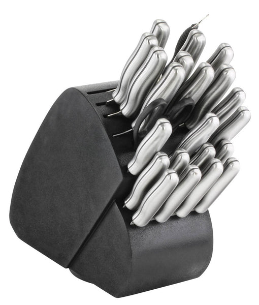 34 pc Steel Handle Kitchen Knives Set