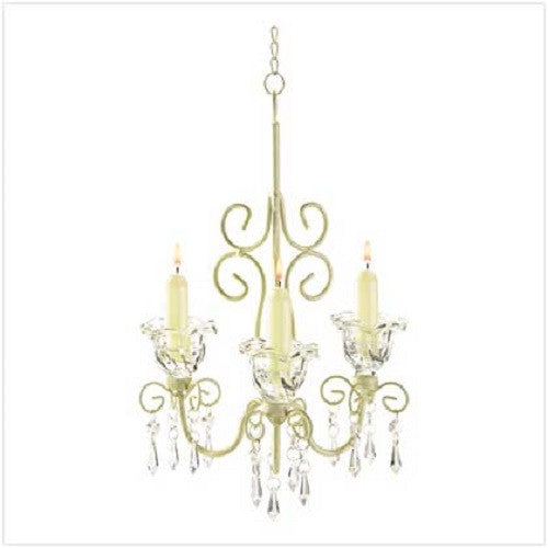 Shabby Elegance Scrollwork Candle Chandelier