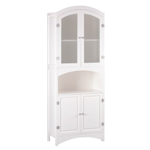 Off-White Linen Cabinet