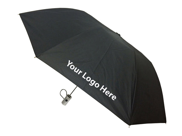 London Fog Classic Black Auto Open Umbrella - Includes One Color Logo on One Location Imprint