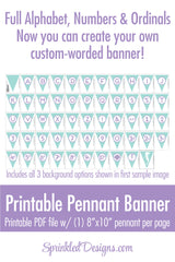 Mermaid Party Banner