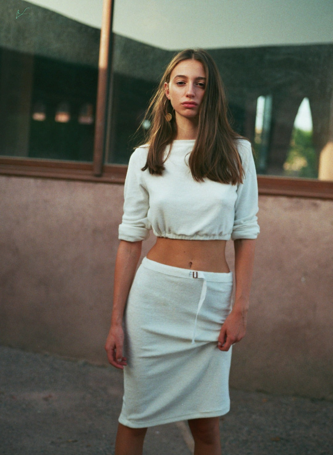The Como Simple Skirt In French Terry